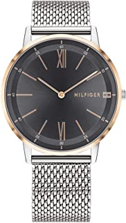 Tommy Hilfiger Men's Quartz Watch with Stainless Steel Strap, Silver, 20 (Model: 1791512)