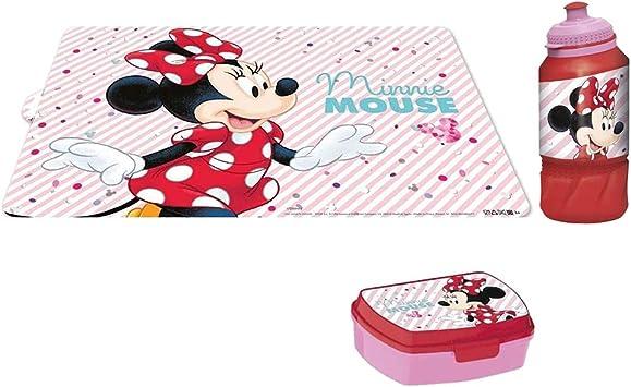 Lunch box sets Minnie borraccia portamerenda e tovaglietta minnie ...