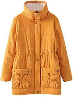 Howely Women's Thermal Plus Size Mid Length Hoodie Coat Parka Jacket