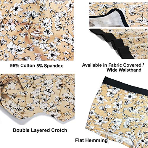 Pepperika Women's (Size 3XL) Full Coverage Soft Breathable Cotton Spandex Stretch Boyshort Underwear Boxer Briefs Hipster Boy Leg Panties Plus Size Combo XXXL Combo (Multi-Coloured - Pack of 4)
