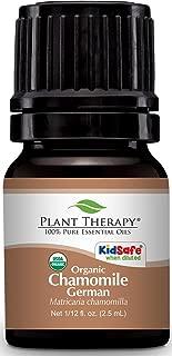 Plant Therapy Chamomile German Organic Essential Oil 2.5 mL (1/12 oz) 100% Pure, Undiluted, Therapeutic Grade