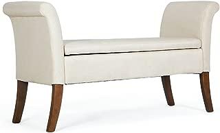 beige settee bench