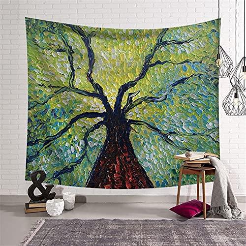 Tapiz de Mandala indio para colgar en la pared, tapiz de tarjeta de Tarot de sol y luna, tapiz psicodélico de tela de pared, tapiz A15 73x95cm