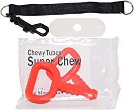 """chubuddy Chewy Holder black WITH textured red Super Chew* INCLUDED *Chewy Tubes is a registered mark of Speech Pathology Associates, LLC ."""""""