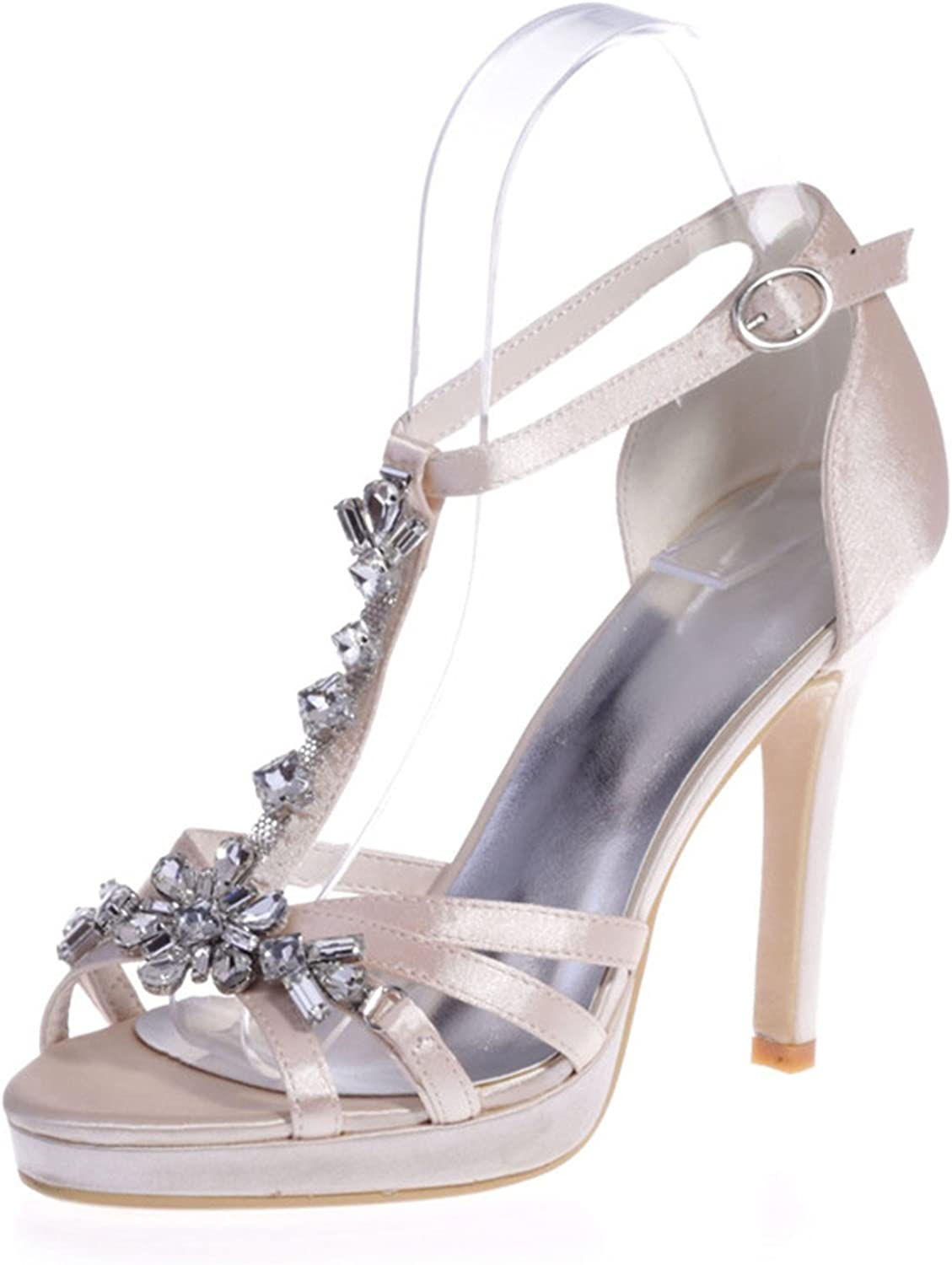 Uryouthstyle Summer Beaded High Heels Stiletto Wedding Pumps shoes Sandals