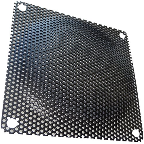 AERZETIX - C15149 - 2 x Schwarz - schutzgitter - lüftungsgitter - 92x92mm - ventilation für lüfter gehäuse - computer PC
