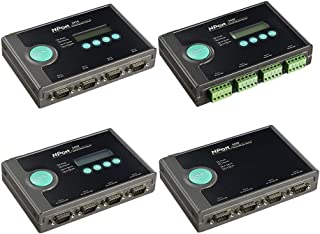 4-Port RS-232/422/485 Device Server with DB9 connectors, 12-48VDC Power Input, -40-75℃