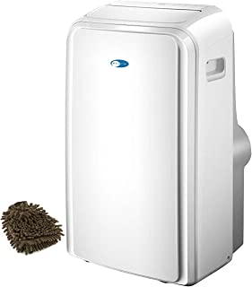 Whynter ARC-126MD Dual-hose Portable Air Conditioner, Dehumidifier, Fan, 12000 BTU with Window Kit, SilverShield Filter for 450 Square Feet (Complete Set), with Bonus Premium Microfiber Cleaner Bundle