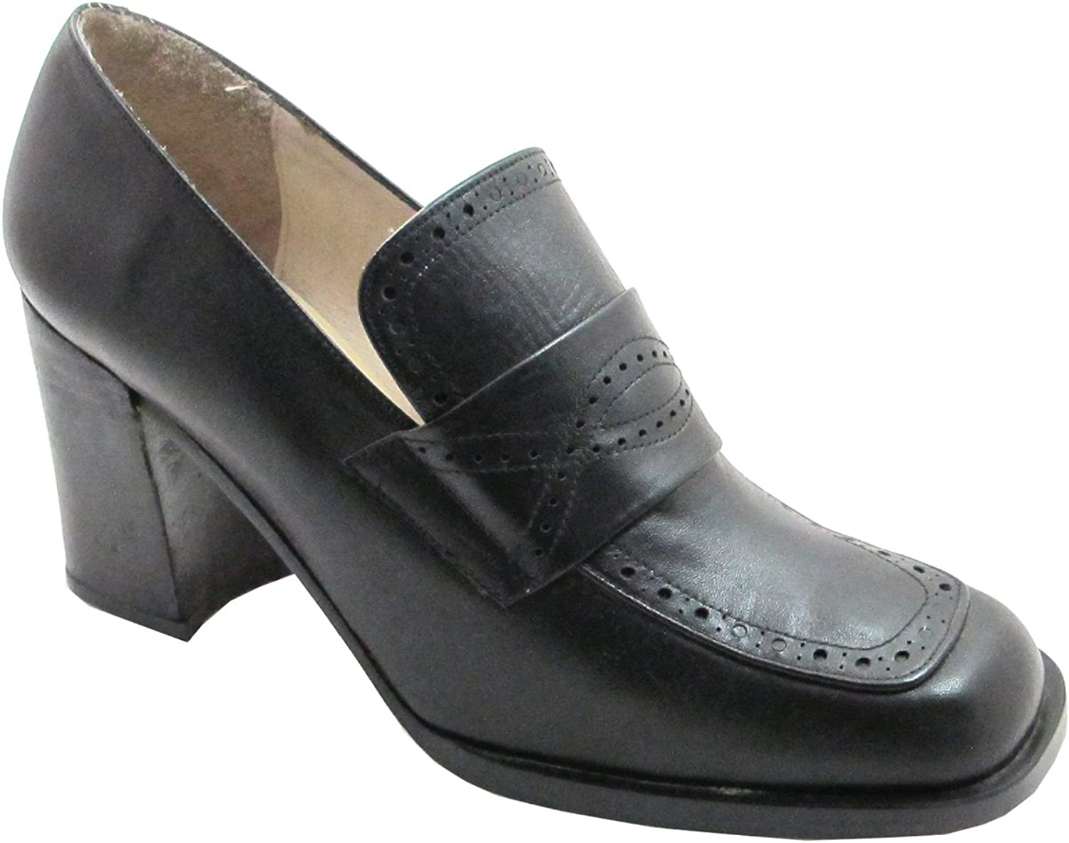 Spiral Women's Leather Square ToeAnd Heel shoes