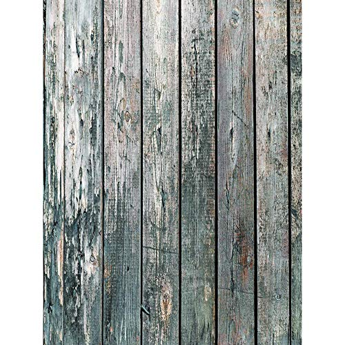 occitop Holzbrett Fotografie Kulissen Kunst Stoff Hintergrund Tuch (B 0,8 x 1,2 m)