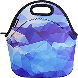 Ambielly Neoprene Lunch Bag/Lunch Box/Lunch Tote/Picnic Bags Insulated Cooler Travel Organizer (Blue Diamond)
