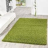 T&T Design Shaggy - Alfombra para salón, diferentes precios, varios colores, verde, 60 x 100 cm