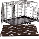 Large 36' Dog Crate Puppy Cage Metal Folding Training Cage With Metal Tray (Design 1 Standard Cage,...