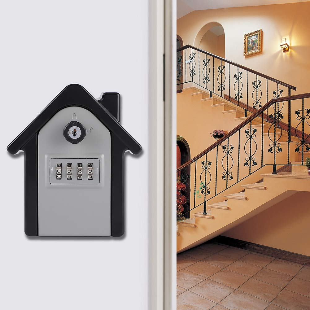 Key Lock Box supreme Wall‑Hanging Easy Install Alloy to Zinc Year-end annual account 4‑Digit