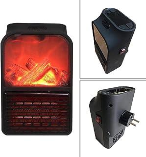 Dedeka 500 W Mini Estufa Eléctrica Calefactor Portátil,Estufa Eléctrica,Simulación Llama Hogar Calentador,pequeño Calentador eléctrico de PTC para Cocina Personal Oficina hogar