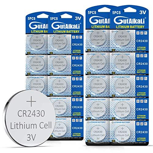 20 Stück CR2430 3V Lithium Knopfzelle Elektro CR 2430 Lithium