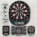 Bersaglio Elettronico - Display LED, 12 Freccette, 100 Punte di Ricambio, 27/28 Giochi e p...