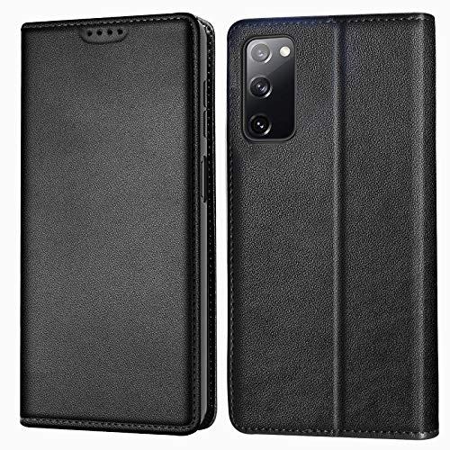 KelaSip Funda para Samsung A72, [bloqueo RFID] Folio Flip Magnética Premium Cuero Funda con [Soporte] [Ranuras para tarjetas] [Carcasa de TPU] para Galaxy A72 Cartera Caso Negro