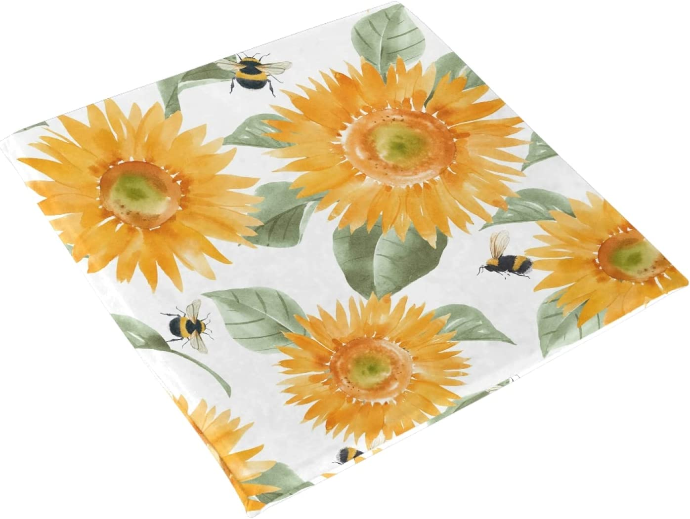 xigua Ranking TOP17 Seat Cushion Beautiful Al sold out. Watercolor Hand C Sunflowers Drawn