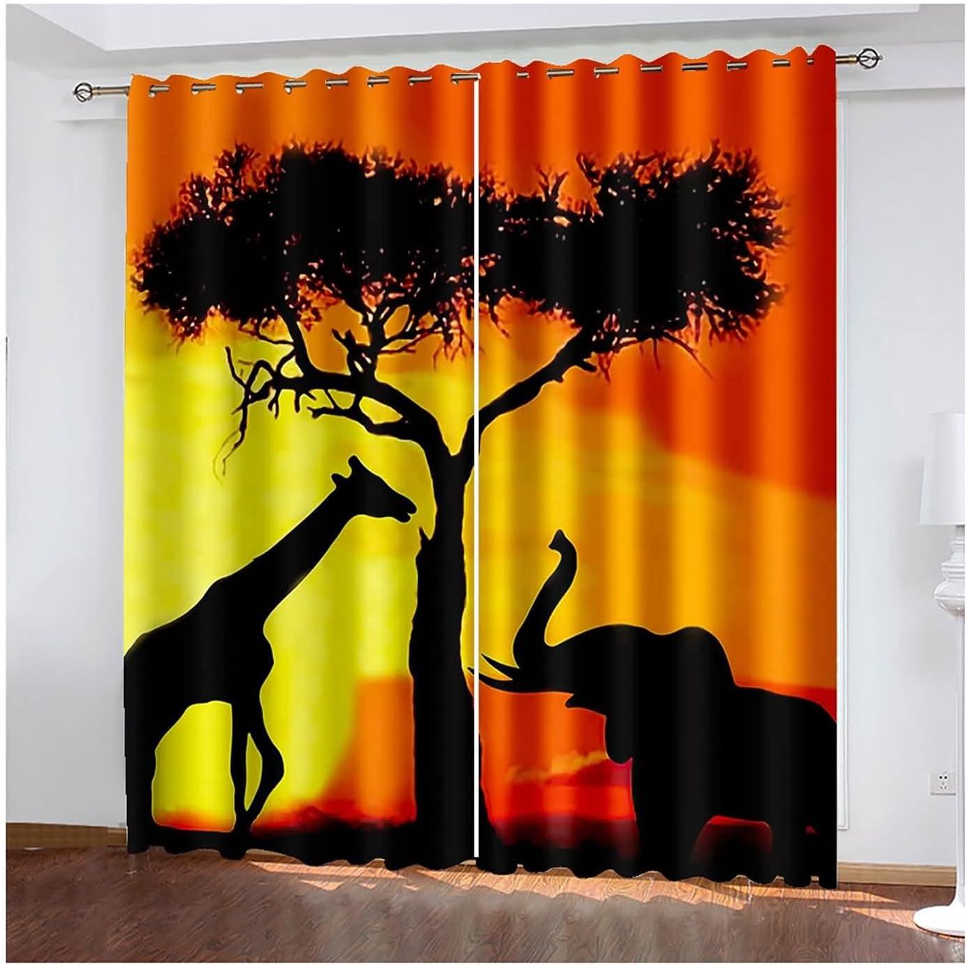 Daesar Blackout Curtains 2 Bedroom Giraf Panels Modern Sale item 70% OFF Outlet