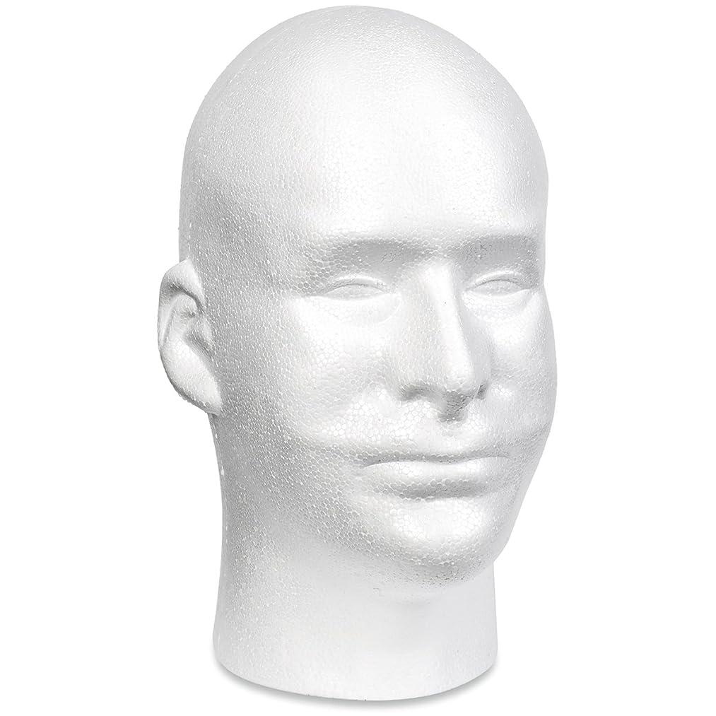 Floracraft Styrofoam Head EPS Male Bulk, White