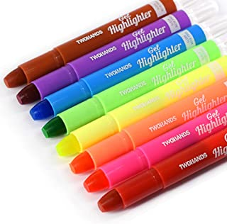 TWOHANDS Bible Gel Highlighter, Dry Highlighter, No Bleed, 8 Assorted Colors, Bible Journaling Supplies, Bible Markers for...