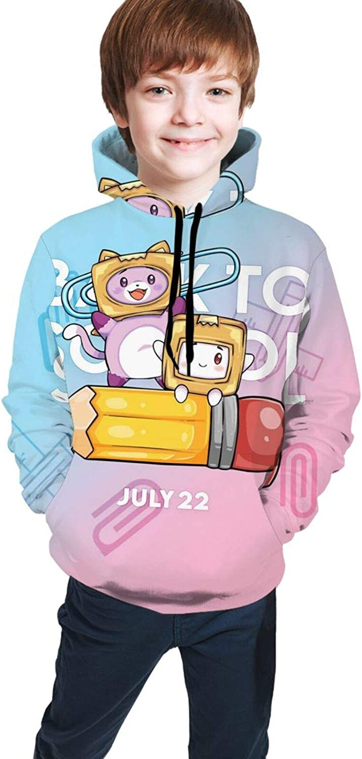 EAROBA Youth Hoodie Sweatshirt wit Sale Special Price Loose Cute_Foxy_Boxy Pullover Super sale