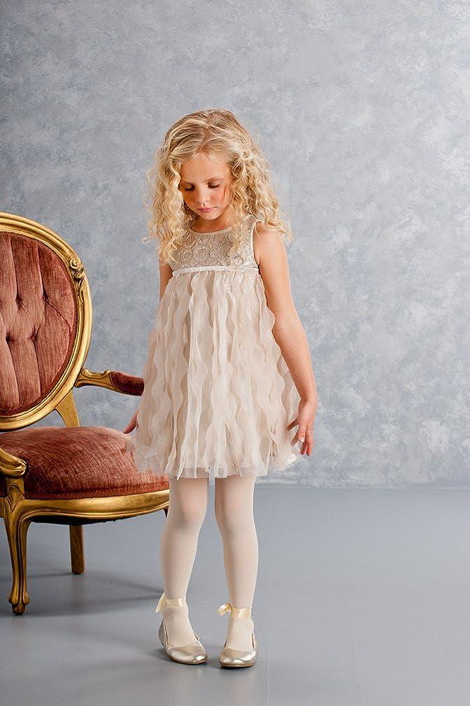 Biscotti Girl's 2-6X Luminous Lace Dress, Gold