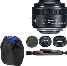 Canon EF-S 35mm f/2.8 Macro IS STM + Lens Pouch + Lens Cleaning Pen - Top Value Basic Canon Lens Accessory Bundle!
