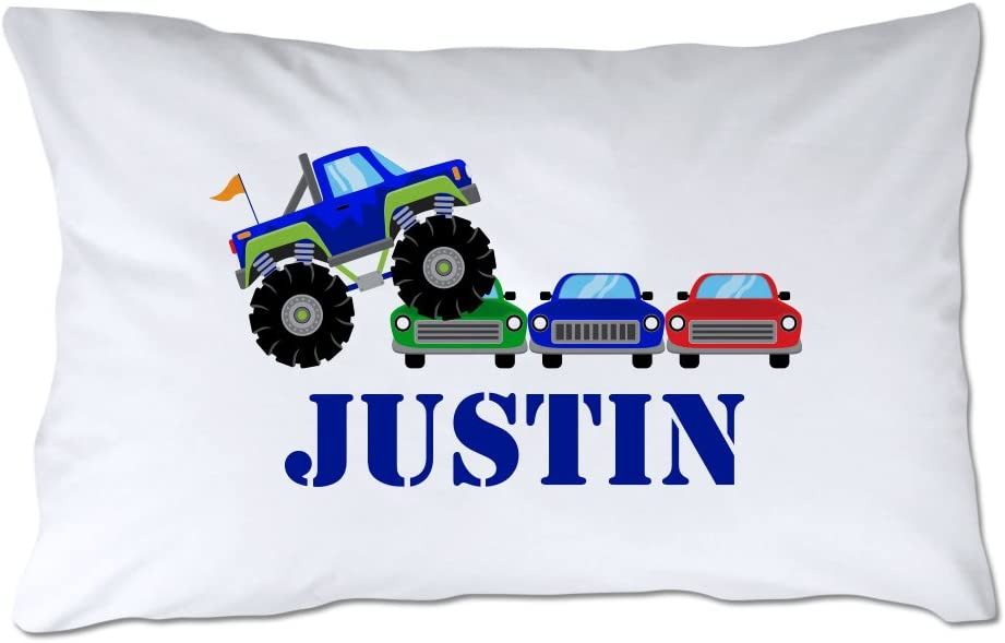 Pattern Pop Personalized Toddler Size Save money Pillow Monster Truck Rally unisex