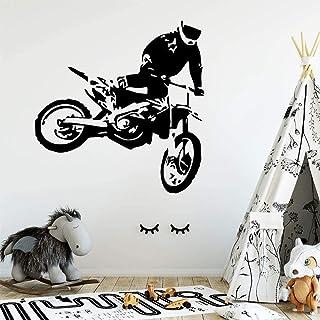 Chambre d'enfants décoration accessoires autocollants muraux cool hors route moto stickers muraux maison salon chambre pei...