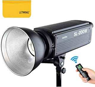 Godox SL-200W 200Ws 5600K LED Video Light Studio Continuous Lamp for Camera DV Camcorder (Black)