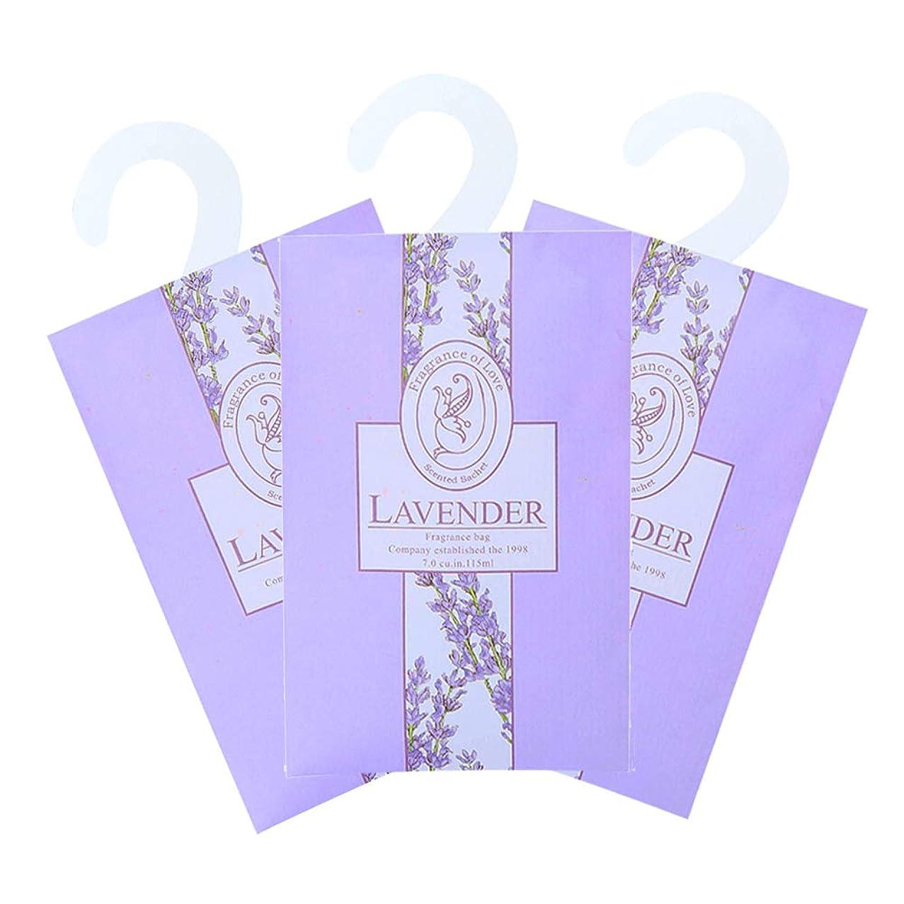ずんぐりした満員課すTINKSKY 香り袋 サシェ 3枚セット 花の香り ルームフレグランス 車内用 玄関用 部屋用 芳香剤(ラベンダー)