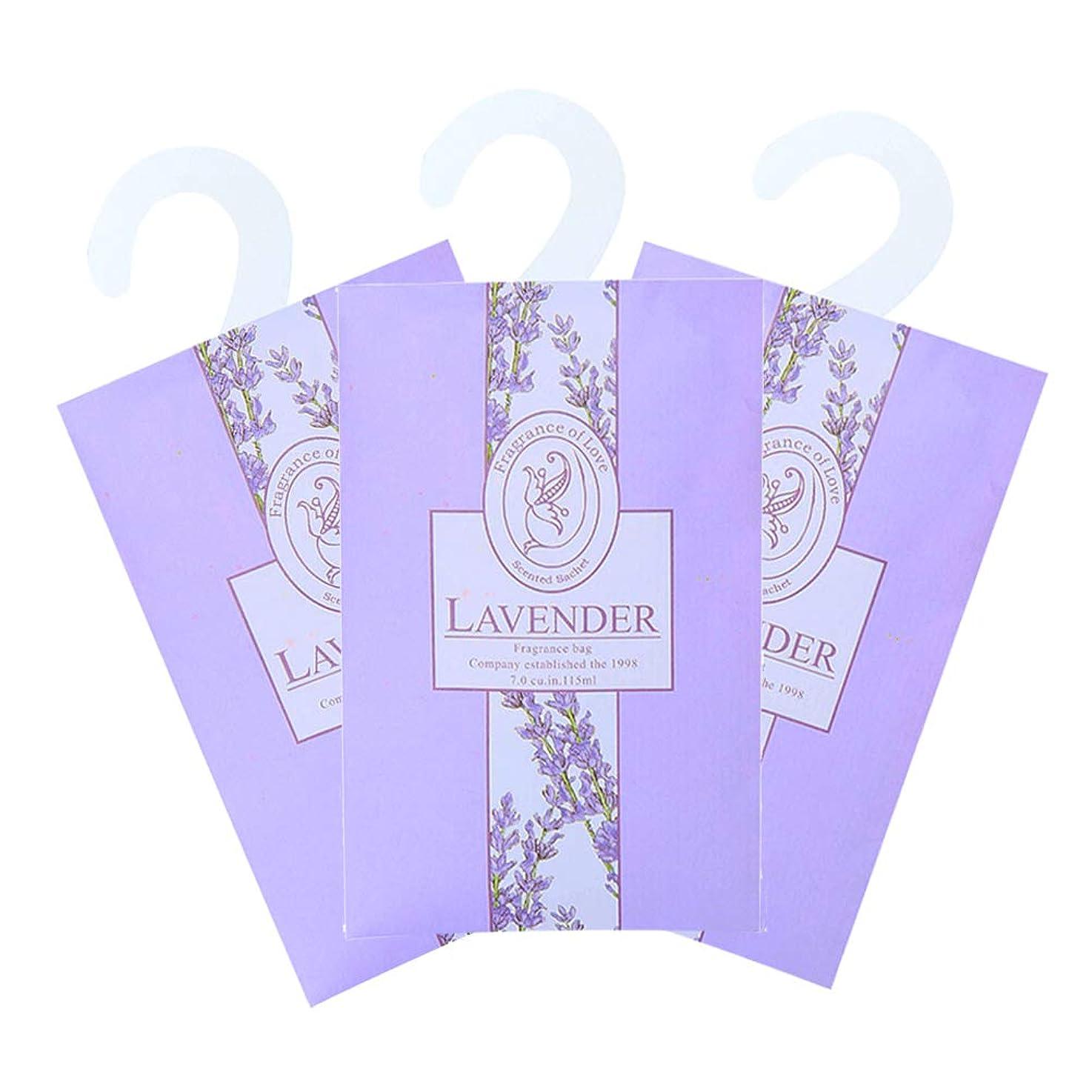 TINKSKY 香り袋 サシェ 3枚セット 花の香り ルームフレグランス 車内用 玄関用 部屋用 芳香剤(ラベンダー)