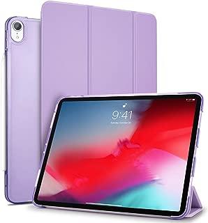 TENDLIN iPad Pro 11 ケース (2018モデル) Apple Pencilペアリングとワイヤレス充電対応 オートスリープ機能付 軽量 衝撃吸収 傷つけ防止 三つ折りスタンド レザースマート薄型カバー iPad Pro 11インチ 対応 (パープル)