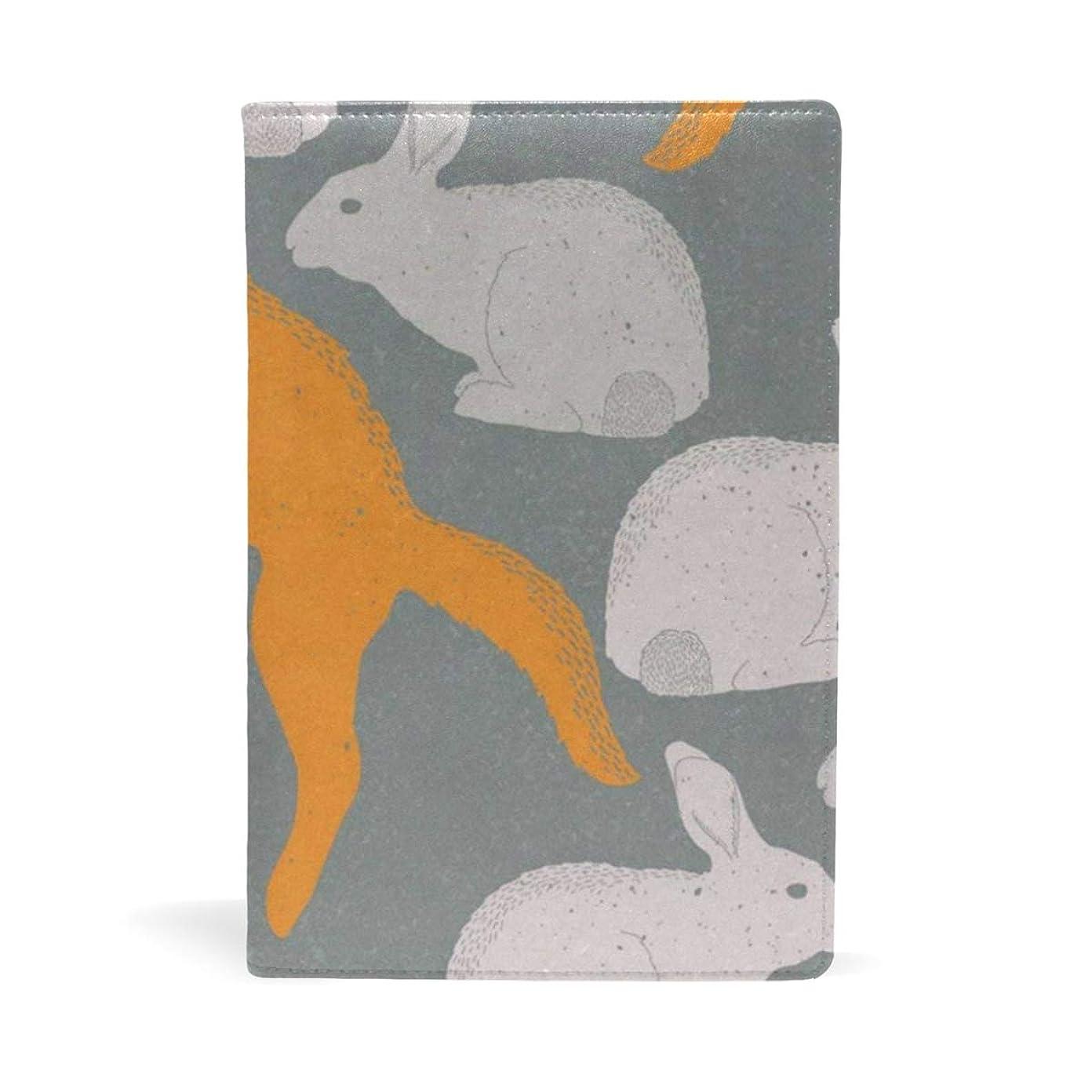 上記の頭と肩囲い昆虫ブックカバー 文庫 a5 皮革 レザー Rabbit Carrot 文庫本カバー ファイル 資料 収納入れ オフィス用品 読書 雑貨 プレゼント
