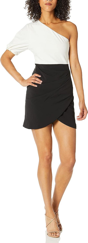 Parker Women's Yanna One Shoulder Puff Sleeve Cocktail Dress