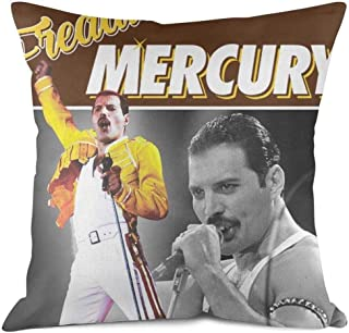 HGT-YUS 1818Inch Art Decorative Square Cotton Cushion Throw Pillow Covers Freddie-Mercury-Queen-Tribute-Montage- Cushion Case