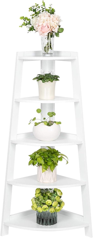 Surprise price Max 87% OFF MITPATY 5 Tier Corner Shelf Display Wood Stand Storage Furniture
