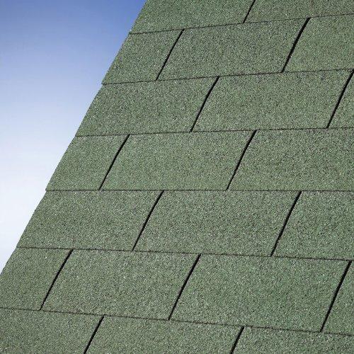 Dachschindeln gerade - grün
