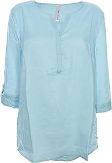 52 blau Ton gemustert Lagen Look 200 Sheego Bluse Tunika  Shirt Gr 405