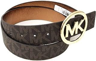 Michael Kors Mk Signature Monogram Logo Buckle and Belt