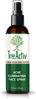TreeActiv Acne Eliminating Face Spray, Facial Toner with Salicylic Acid to Cleanse, Tone, Balance Acne Prone Skin, Aftershave, Witch Hazel, Lemongrass, Sandalwood, Made in USA, 4 fl oz
