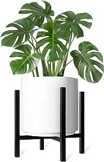 ایستگاه گیاهان Mkono Mid Century Pot گلدان بلند ، گلدان بلند ، گلدان های داخلی گلدان های داخلی ، گلدان های حاوی صفحه نمایش رک متناسب با 12 اینچ کاوشگر (گشتاور شامل نمی شود)