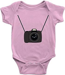 Lplpol Kamera Baby Baumwolle Baby Onesies Bodysuit Overall für Unisex Baby Jungen Mädchen GK985
