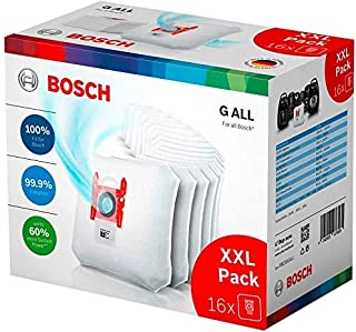 Bosch Dammsugarpåse, Vit, Paket med 16