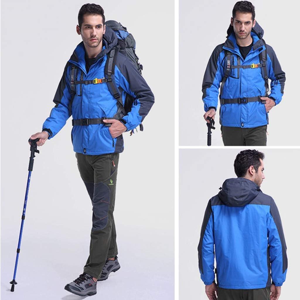 DFGRFN Veste imperm/éable pour Homme Veste dext/érieur 3 en 1 Vestes Respirantes Multi-Poches Sports Zip-Out Manteaux de Printemps et dautomne V/êtements dext/érieur Actifs,Blue1/_men-2XL