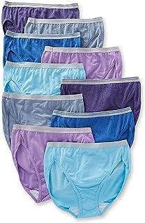 Fruit of the Loom Women's Tag Free Cotton Hi Cut Panties (Regular & Plus Size)