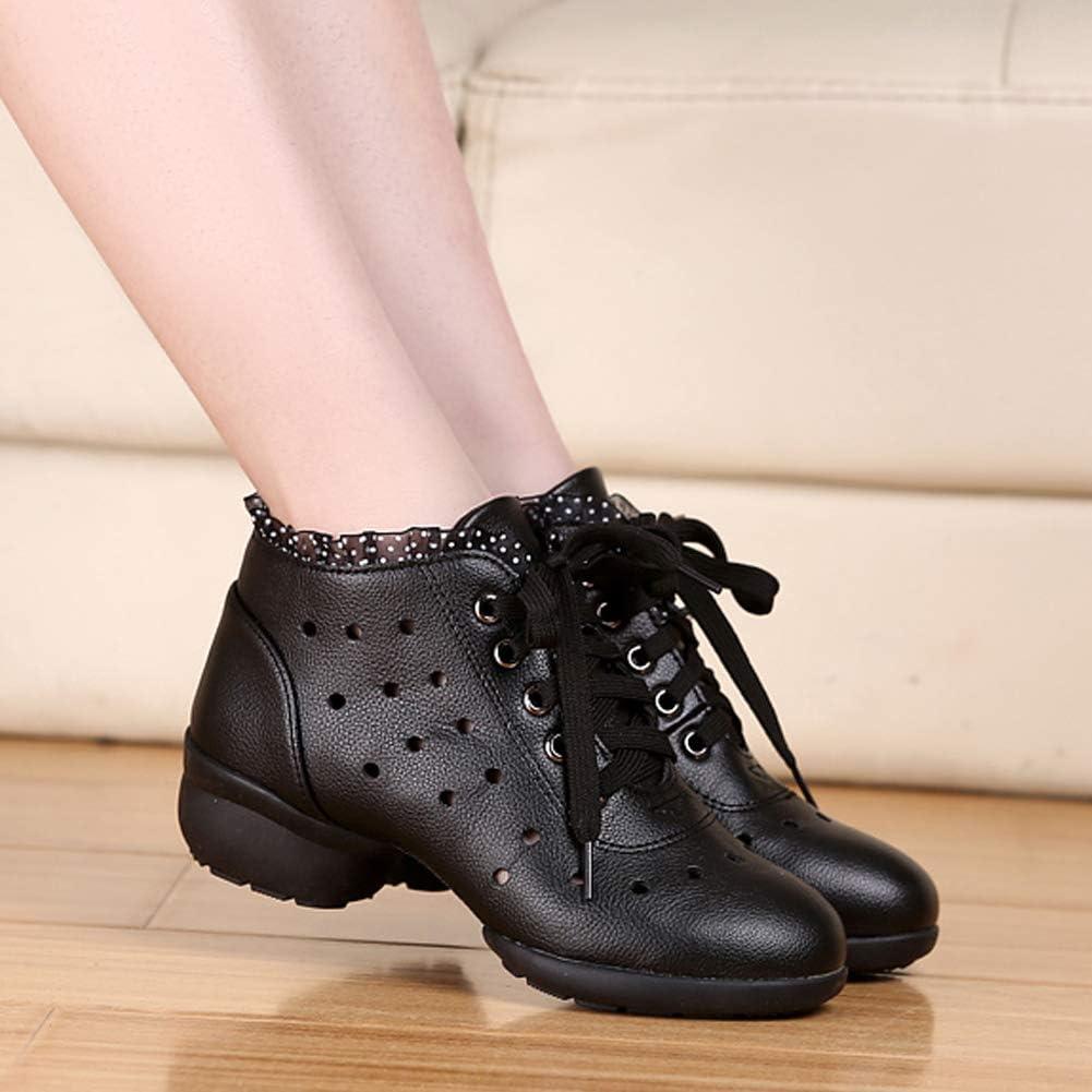 YFCH Damen Leder Sportschuhe Jazz/& Modern Sneaker Tanzschuhe Dancesneaker Turnschuhe mit geteilter Sohle in verschieden Design