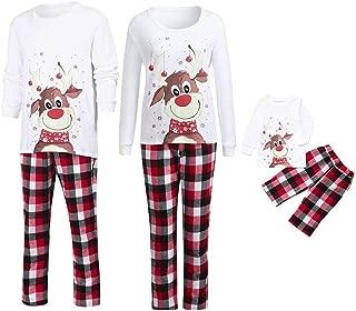 Kehen Family Christmas Pajamas Set Xmas Deer Print Cotton Sleepwear Nightwear Parent Child Outfit Equipment Matching